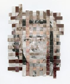 """I really like the """"Remnants"""" serie by the American conceptual artist Greg Sand. The artist says: """"Remnants is a series about recollection and remembrance. Each 'remnant' in the se… Paper Weaving, Weaving Art, Kreative Portraits, Experimental Photography, A Level Art, To Infinity And Beyond, Art Graphique, Art Plastique, Portrait Art"""
