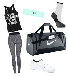 """""""Sports"""" by rdobkowski on Polyvore featuring Topshop, Under Armour and NIKE"""