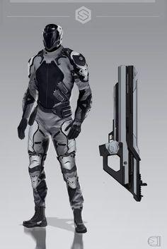 SynapseRPG_conceptart | Security Enforcers , Alexandra Akimova on ArtStation at https://www.artstation.com/artwork/lN94O