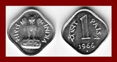 Indian 1 paisa coin, rare to find