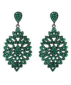 Take a look at this Emerald Austrian Crystal Rhonda Winter Drop Earrings by Amrita Singh on #zulily today!