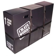 Pro XL-C Corragated Plastic Bike Box. Easy to use. SHIPS UPS/Fedex. Most affordable Bike box on the market of its type. Bike Shipping, Car Racks, Crates, Transportation, It Works, Plastic, Box, Trailers, Specs