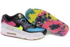 Dame Nike Air Max 90 Sort/Farver