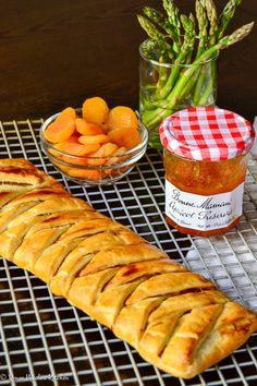 Apricot and Prosciutto Pastry Braid