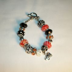 Do you have a cheerleader in the family? A bracelet in the school colors would be a perfect gift...