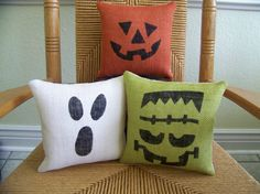 Halloween pillows pumpkin pillow Ghost by KelleysCollections