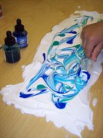 marbling with shaving cream, also management ideas