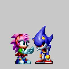 Here's a recreation of amy placing a ribbon on metal sonic, special thanks to Troopsushi For allowing me to use a few amy sprites to make this possible :) Hedgehog Drawing, Hedgehog Movie, Sonic The Hedgehog, Sonic 25th Anniversary, Boca Anime, Mundo Dos Games, Sonic Funny, Sonic Mania, Sonic Franchise