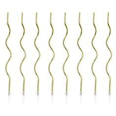 Curly Geburtstagskerzen Gold, 8 Stück Bobby Pins, Curls, Gold, Hair Accessories, Tableware, Grown Up Parties, Confetti Balloons, Birthday Cake Toppers, Balloons