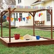 I love this sandbox! The canopy makes it even better! & Square Sandbox Kit 4ft. X 4ft. X 5.5in. w/ Telescoping Canopy ...