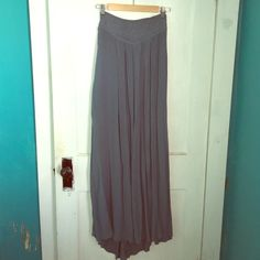 Ecote maxi skirt size L Never worn blue maxi skirt with embroidery Ecote Skirts Maxi