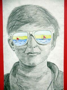 Summer sunglasses portrait lesson The Calvert Canvas: Adventures in Middle School Art!: 7th Grade