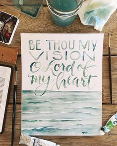 I love all the creative Christian artist I discover through @christiancreative! This one is by @gracelaced. Be thou my vision, O Lord of my heart.