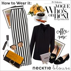 Fall Trend: Necktie Blouse by amaryllis on Polyvore featuring мода, Proenza Schouler, Dolce&Gabbana, Jon Josef, Chloé, MANGO, Dot & Bo, Henri Bendel, Prada and falltrend