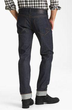 Rogan 'Puck' Slim Straight Leg Selvedge Denim Jeans (Indigo) available at #Nordstrom