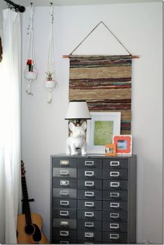 DIY Copper and Leather Rug Wall Hanging