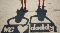 Father's Day Sweetest Shadow Photo