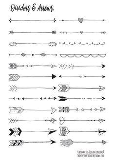 Verschiedene Pfeilarten zeichnen