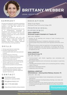 Resume examples, Resume action words, Resume template examples, Resume, Functional resume, Administrative assistant resume - Want to create or improve your Legal Assistant Resume Example  ⚡ ATSfrien -  #Resumeexamples