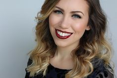 Classic Holiday Makeup with Luminess Air   Soft Neutral Eye Makeup   Bold Glossy Burgundy Lip Color