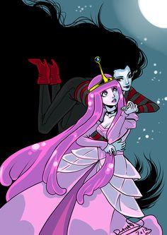 Marceline and Bubblegum by *omegasama