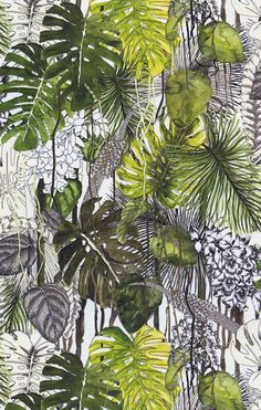 On The Net Landscape Design And Style - The New On-line Tool That Designers Are Flocking To For Landscape Designs Velours Soft Jardin Exo'chic 3d Wall Art, Wall Murals, Jungle Art, Hawaiian Art, Tropical Art, Fantasy Paintings, Plant Illustration, Christian Lacroix, Mural Painting