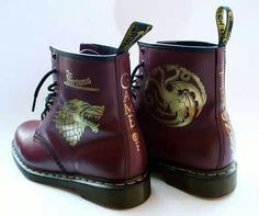 Game of thrones  ♡ holy crap GoT doc martens, why