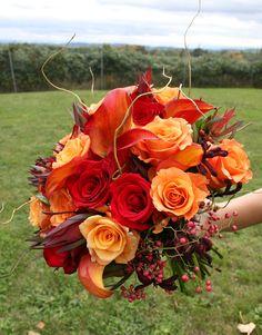 orange wedding bouquets | Orange Bridal Bouquets | Bitsy Bride | Wedding Dresses, Wedding Cake ...