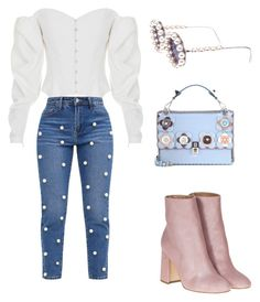 A fashion look from November 2017 featuring white top, embellish jeans and heeled ankle boots. Browse and shop related looks. Fendi, Chanel, Shoe Bag, Polyvore, Stuff To Buy, Shopping, Collection, Shoes, Design