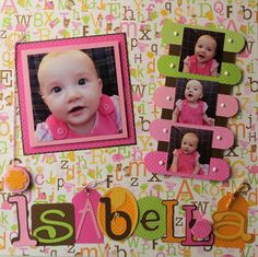 Five Pines Designs: Doodlebug Baby Page Baby page. Challenge. handmade embellishments to match the paper