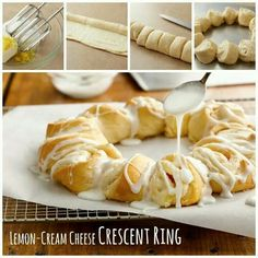 Lemon cream cheese Cresent roll