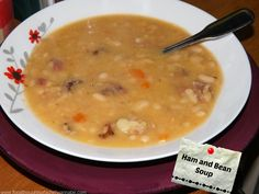 FoodThoughtsOfaChefWannabe: Hearty Ham and Bean Soup
