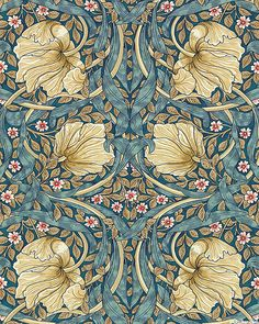 Bloomsbury - Nouveau Pimpernel - Steel Blue. Quilt Fabrics from www.eQuilter.com