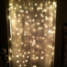 Lighted curtain.