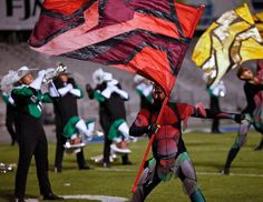 Color, motion and drama are also part of a DCI performance, and the skills of the color guard...from the Cavies' 2011 show, XtraordinarY...