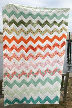 chevron quilt~ want to recruit Grandma to make me one of these!!