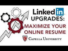 LinkedIn Upgrades: Maximize your Online Resume - YouTube