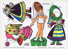 "María Pascual: Salmantina, Lagarterana, free paper dolls at Arielle Gabriel""s The International Paper Doll Society and free Chinese Japanese paper dolls at The China Adventures of Arielle Gabriel * Softies, Felt Books, Paper Dolls Printable, Thinking Day, Vintage Paper Dolls, Japanese Paper, Retro Toys, Soft Dolls, Paper Toys"