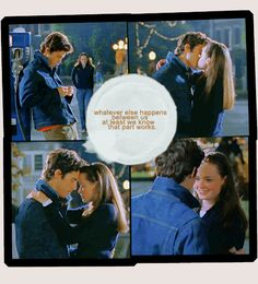 Jess and Rory forever! Gilmore Girls quote from Jess. Milo Ventimiglia and Alexis Bledel.