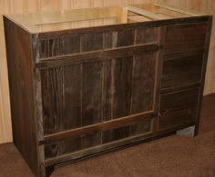 Barn Wood Weathered Gray Vanity Finished