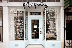 Windows, signage on shop window, window decals, branding, typography Cafe Design, Store Design, House Design, Sign Design, Cafe Industrial, Bar A Vin, Store Window Displays, Bakery Window Display, Cafe Display