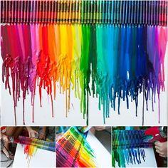 Creative Ideas - DIY Stunning Melted Crayon Art Canvas | iCreativeIdeas.com Follow Us on Facebook --> https://www.facebook.com/iCreativeIdeas