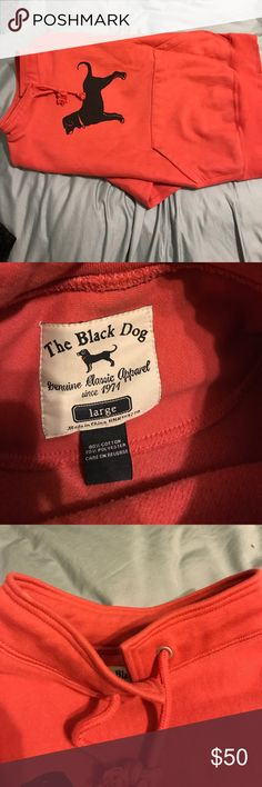 """Authentic """"the black dog"""" hopeless sweatshirt, lg Cute and preppy pink/salmon colored hoodless sweatshirt.  Perfect for an spring evening on the vineyard! Grab it while you still can! The Black Dog Sweaters Crew & Scoop Necks"""