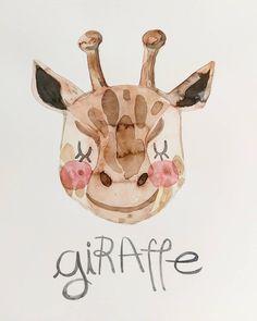 Fauna . . . . . . . . . #lowcostunicorns #watercolourillustration #watercolour #giraffe #giraffeillustration #kidsroom #nurseryillustration #fauna #cutestuff #illustratorsofinstagram #romanianillustrator