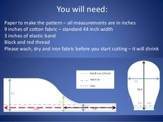 You will need: Paper to make the pattern – all measurements are in inches 9…