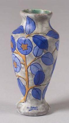 Art Deco L. Dage Pottery Vase France, c. 1930
