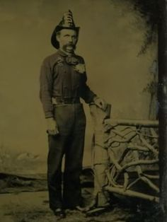 "Memento Mori (""Remember your Mortality"" in Latin) Death Photo. Victorian Era. Fireman."
