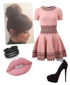 """""""Untitled #15"""" by kyrah-g on Polyvore featuring Alexander McQueen, Giuseppe Zanotti, Lime Crime and Sif Jakobs Jewellery"""