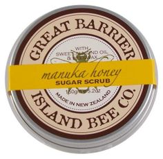 Great Barrier Manuka Sugar Scrub by Great Barrier Island Bee Co.. $19.80. This luxurious non-sticky Sugar Scrub combines Manuka Honey and Sweet Almond Oil, blended with natural sugar crystals to gently exfoliate. Leaves your skin nourished and radiantly smooth.  Manuka Honey is unique to New Zealand and well renowned to repair and nourish the skin.  The source is Great Barrier Island, off the coast of Auckland and home to New Zealand's poineering beekeepers dating ba...