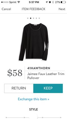 41Hawthorn Jaimee Faus Leather Trim Pullover. I love Stitch Fix! A personalized styling service and it's amazing!! Simply fill out a style profile with sizing and preferences. Then your very own stylist selects 5 pieces to send to you to try out at home. Keep what you love and return what you don't. Only a $20 fee which is also applied to anything you keep. Plus, if you keep all 5 pieces you get 25% off! Free shipping both ways. Schedule your first fix using the link below! #stitchfix…